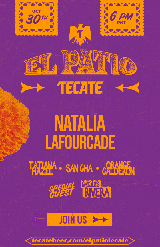 Flyer with information of El Patio Tecate® Episode 2 that will take place on October 30 at 6 PM